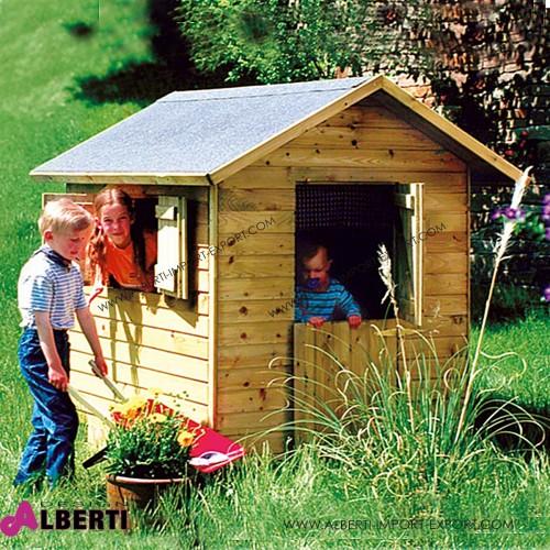 Casetta  per bambini DOMINIK 150x120x160 in legno spessore 14 mm