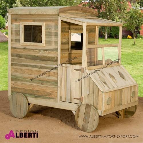 Casetta per bambini AUTO L110xP184xH176cm in legno