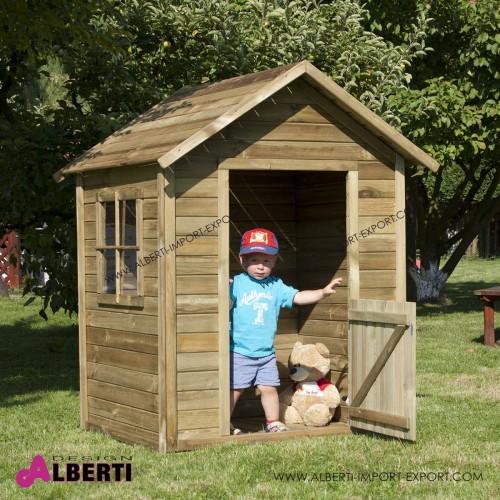 Casetta per bambini Cristoforo L110xP95xH154 in legno