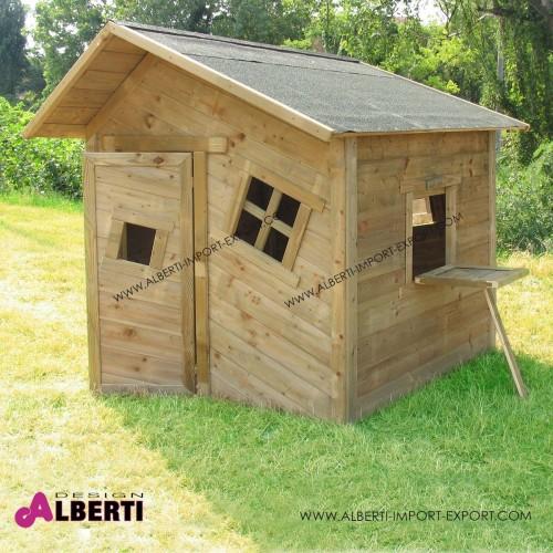 Casetta per bambini grande 154x175x110, in legno