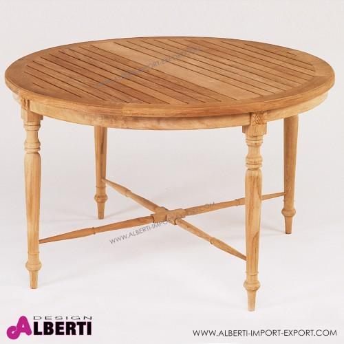 Tavolo fisso rotondo modello Elegance, diametro 120 x h 74 cm