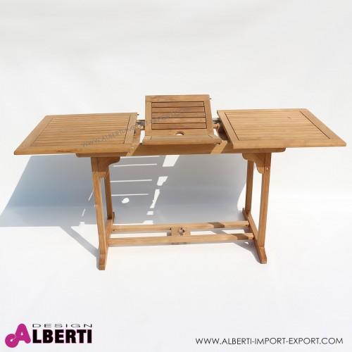 Tavolo allungabile in teak modello Boston L120/160xP70xH74