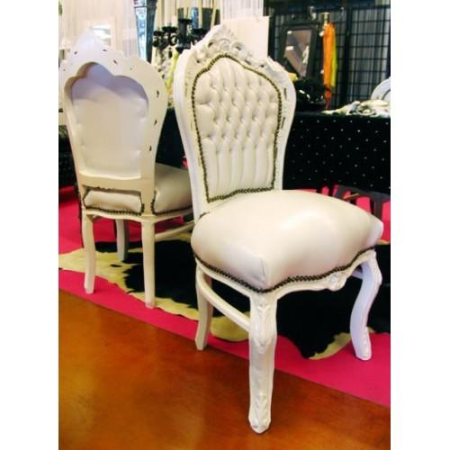 Sedia Parigi bianca con eco pelle bianca - Alberti Design