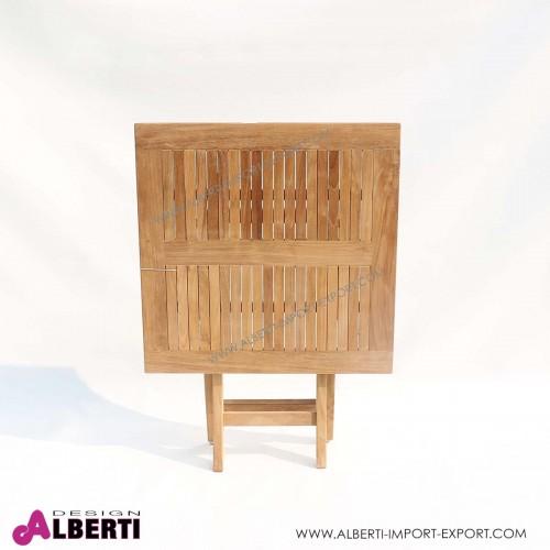 Tavolo quadrato pieghevole, 90x90x75 cm