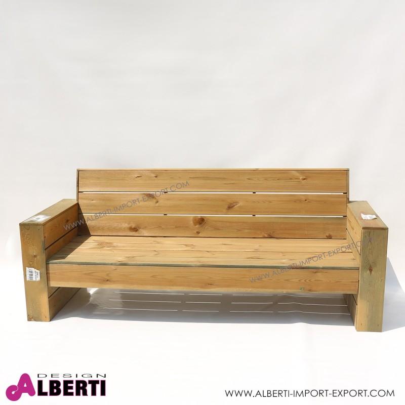 Divano in legno per esterno 198x75xh42 82 cm - Mobili in legno da esterno ...