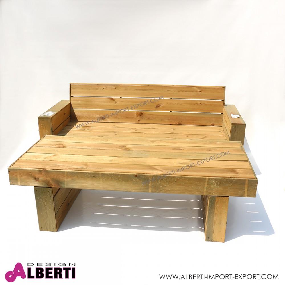 Divano in legno per esterno 198x75xh42 82 cm for Divano esterno legno