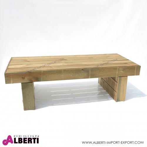 Tavolo in legno Mantova per esterni, in pino impregnato, 170x70xh50 cm