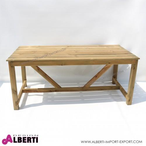 Tavolo in legno da esterno in pino impregnato 180x90
