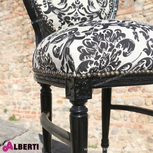 962 BGC8265B_b Sedia fiori neri Parigi