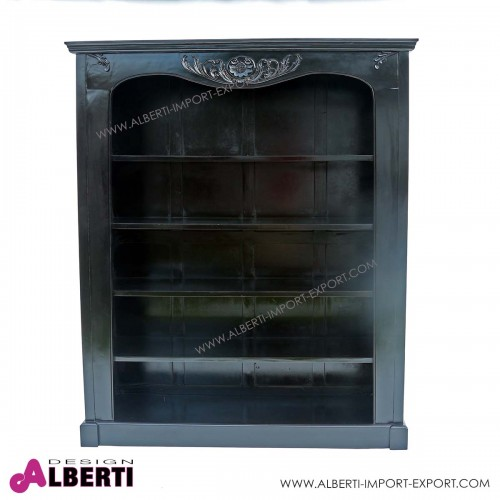 Libreria WIULIK black 4 ripiani  160x50x195