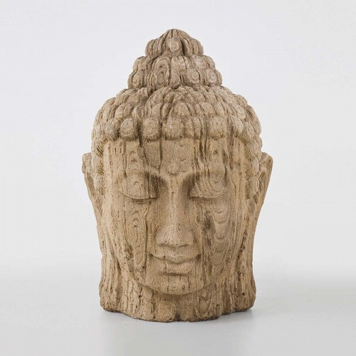 Testa Buddha in vetro resina per esterno 74x71x110cm