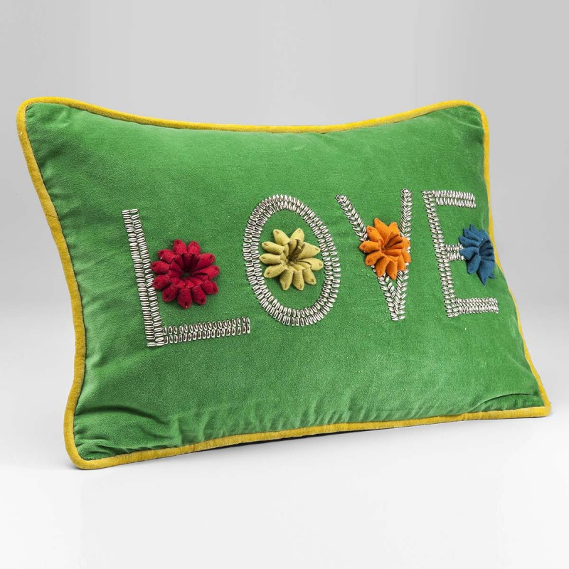 962 KA37782_a Cuscino Love Green 35x50cm