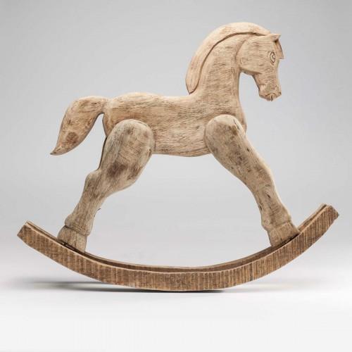 Oggetto decorativo Rocking Horse Nature 75x12x61 cm