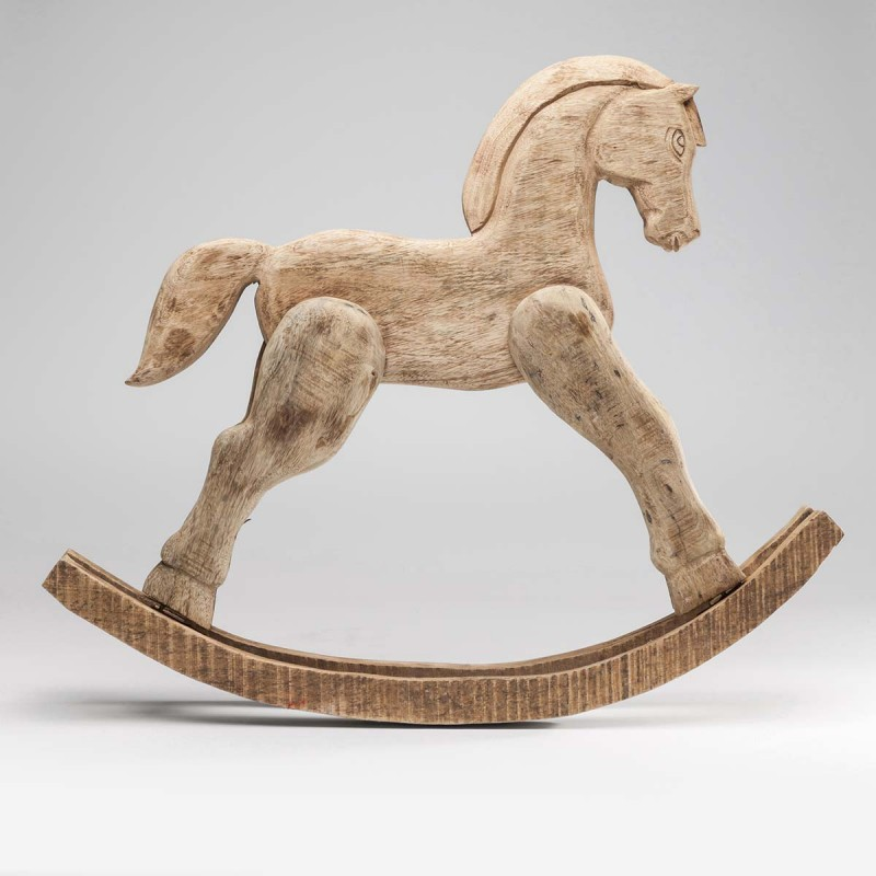 962 KA37838_a Deco Rocking Horse Nature75x12x61