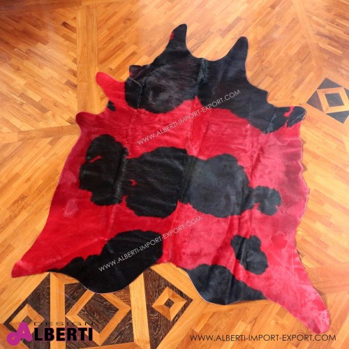 Pelle colorata rossa/nera 3-4 mq