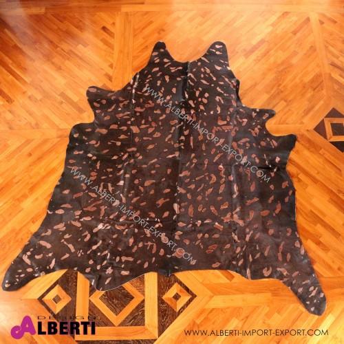 Pelle devoré metallic marrone/rame, 3-4 mq
