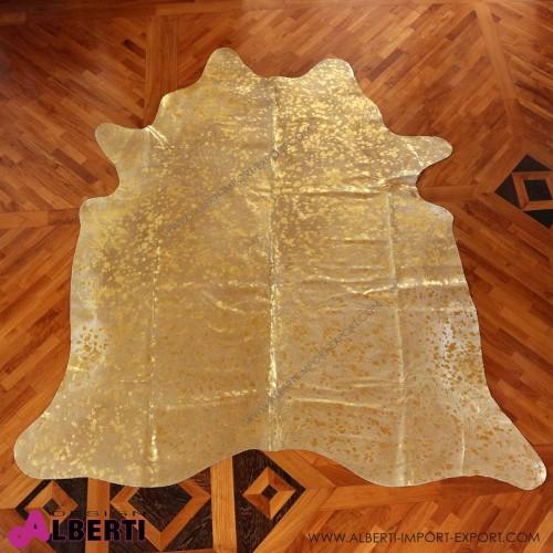 Pelle devoré metallic grigio/oro, 3-4 mq