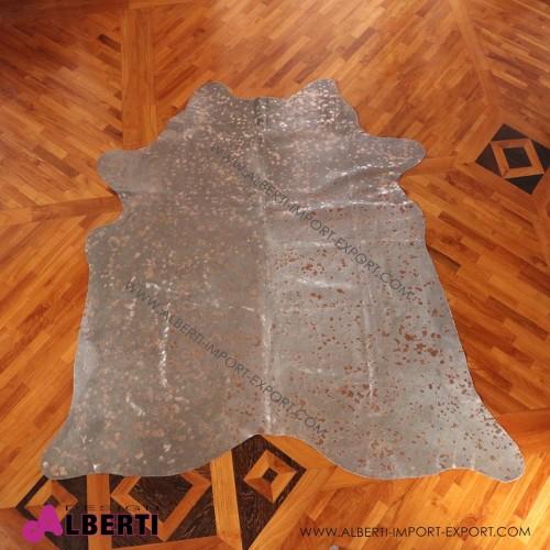 Pelle devoré metallic grigio/grigio, 3-4 mq