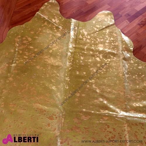 Pelle devoré metallic giallo/oro, 3-4 mq