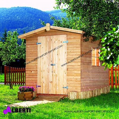 Casetta doppia porta spessore 14mm legno impregnato in autoclave225x225x220