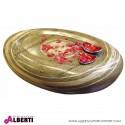 Tavolino da salotto ovale in fibra naturale resinata  KO-COON SG RT 116x80xh30
