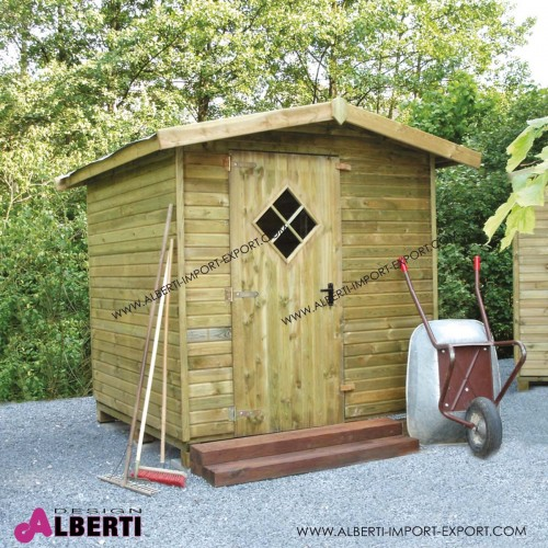 Casetta in legnoporta attrezzi 200x200 19mm - Porta attrezzi legno ...