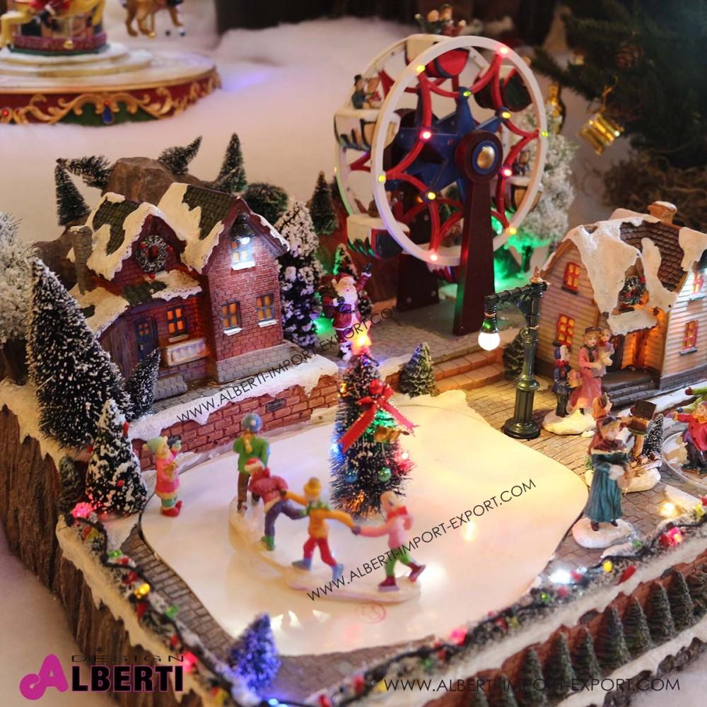 Villaggio Natale.Villaggio Natale Con Ruota