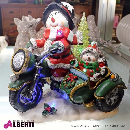Pupazzo di neve su moto