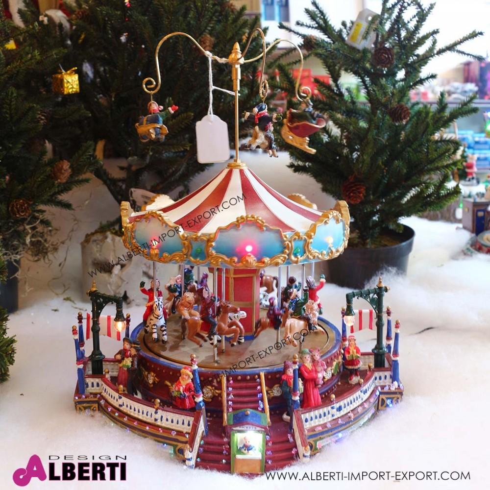 Immagini Di Natale Con Cavalli.Villaggio Di Natale Con Luci Addobbi E Decorazioni Natalizie