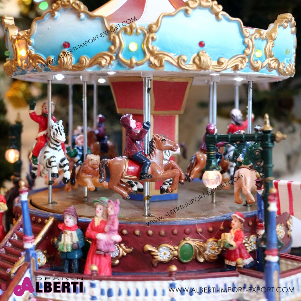 Villaggio di natale con luci addobbi e decorazioni natalizie - Decorazioni per il natale ...