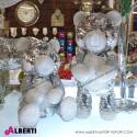 Orso pailettes argento 37/49cm assortito