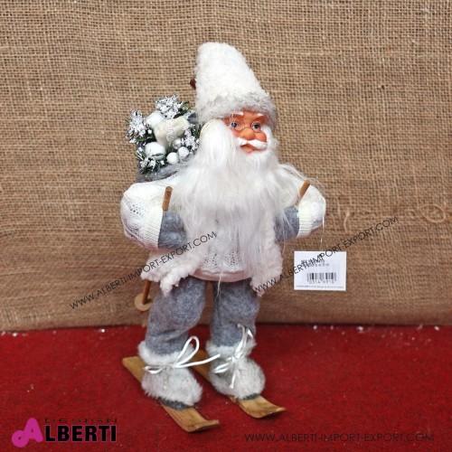 962 WU15470_a Santa Claus su sci 30 cm