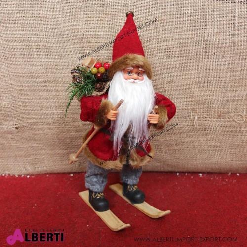 962 WU19692_a Babbo Natale su sci 30cm