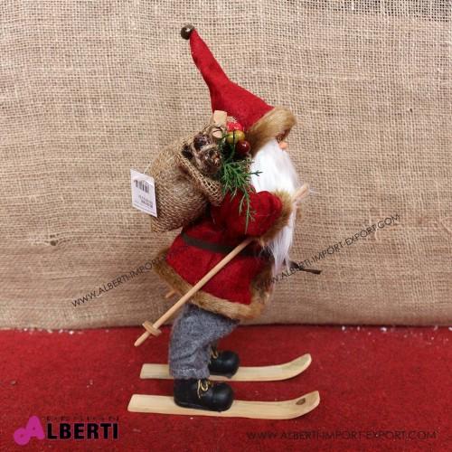 962 WU19692_b Babbo Natale su sci 30cm