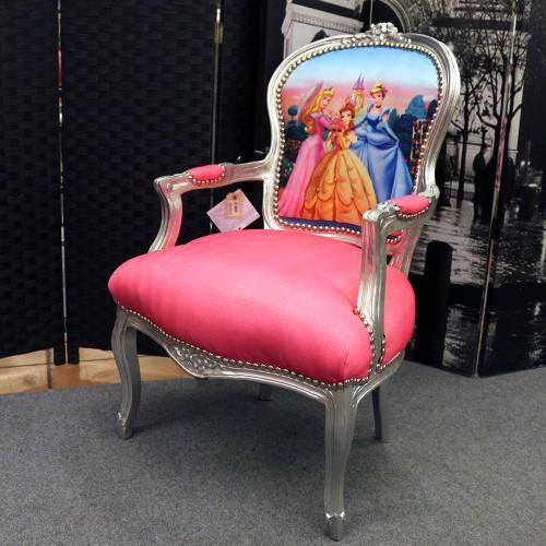 Poltrona barocco Venezia argento e rosa con Walt Disney