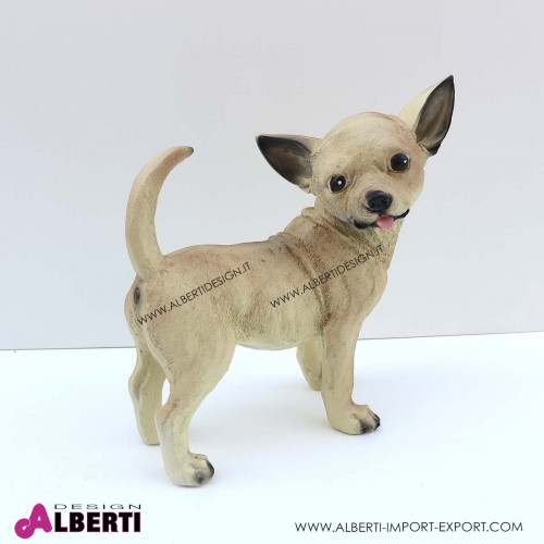 Cane Chihuahua in vetro resina H30 cm