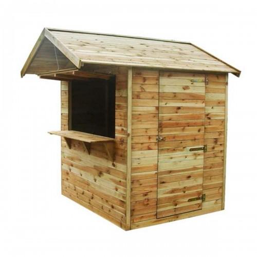 Chiosco piccolo in legno impregnato in autoclave 183x150xh230 cm