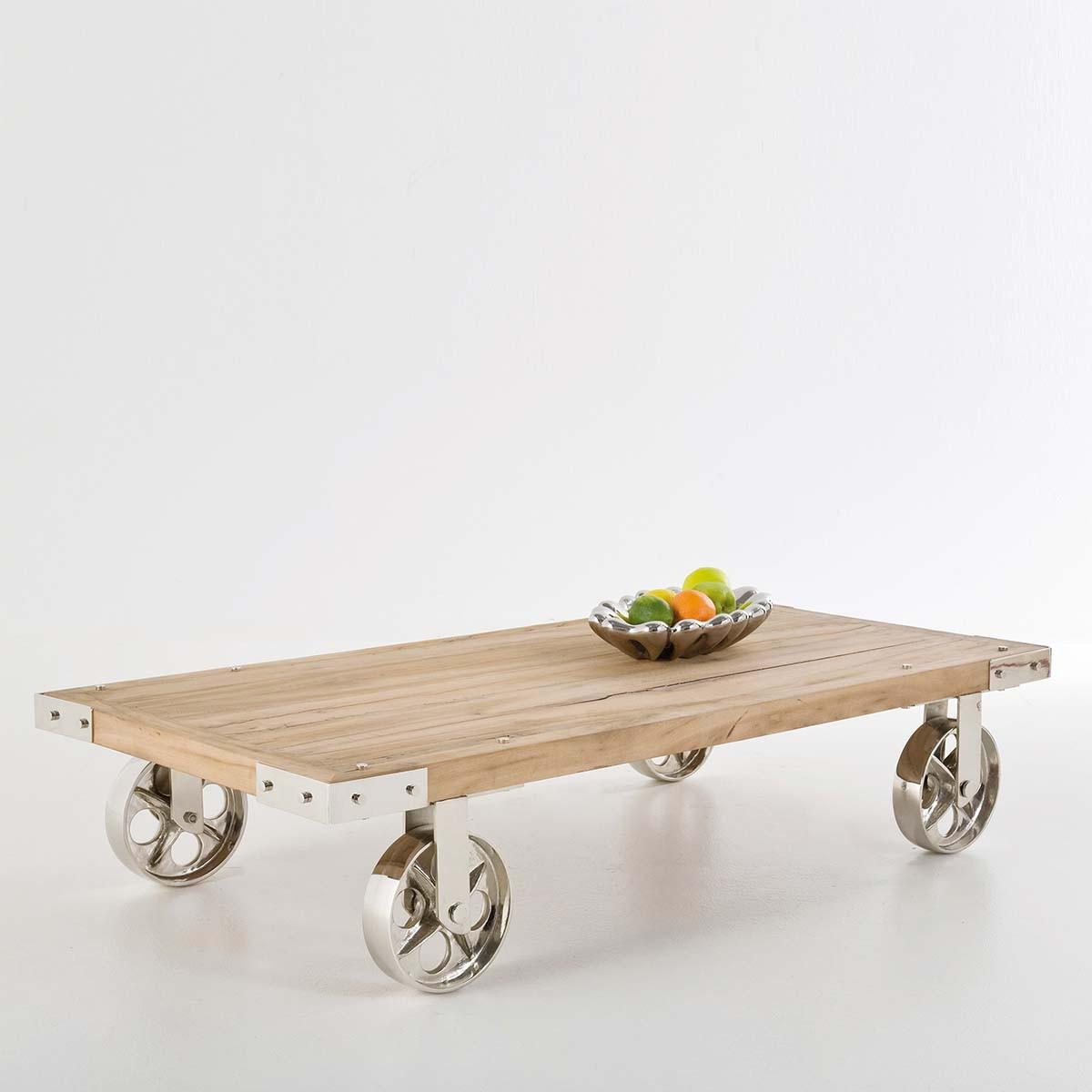 Un Tavolino Con Le Ruote.Tavolino Vintage Legno 140x70xh28