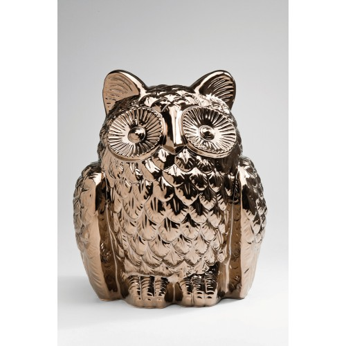 Figura Deco Gufo ceramica 36x30x28cm