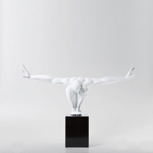 Oggetto di design Atleta bianco 75x23x42cm