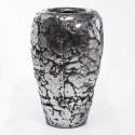 Vaso ceramica silver H75 D46
