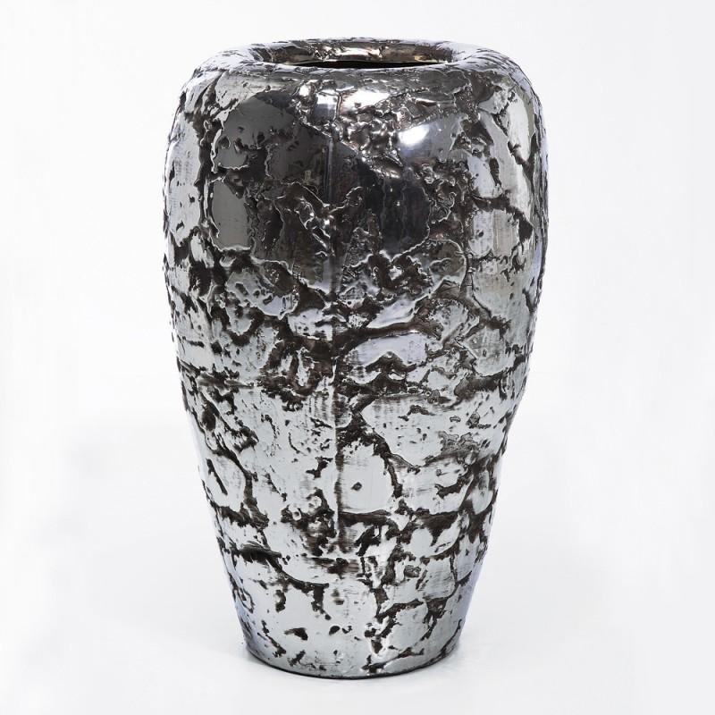 962 KA32354_a Vaso ceramica silver H75 D46
