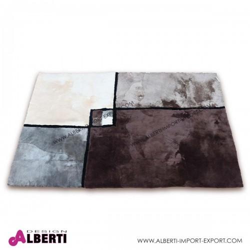 Tappeto di pelle di pecora tosata con disegno 240x170 cm