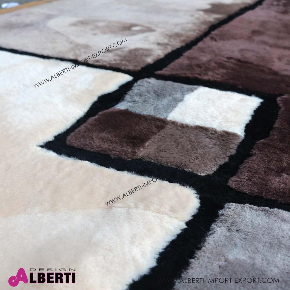 Tappeto di pelle di pecora rasatacon disegno 240x170 cm