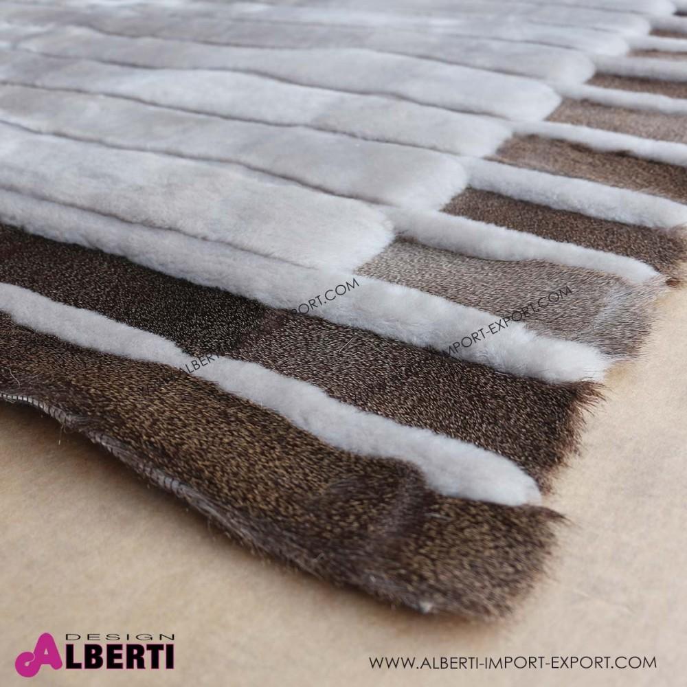 Tappeto di pelle di pecora rasatacon disegno 280x170 cm
