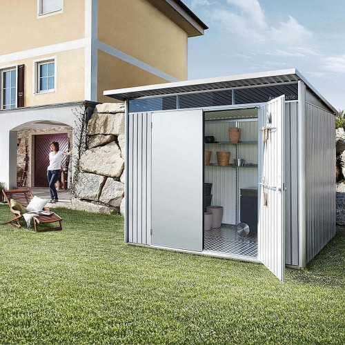 Casetta portattrezzi AvantGarde è la prima casetta in metallo che risponde alle esigenze dell'architettura moderna.