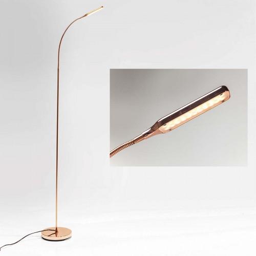 Lampada da terra in alluminio ramato Literature rame LED
