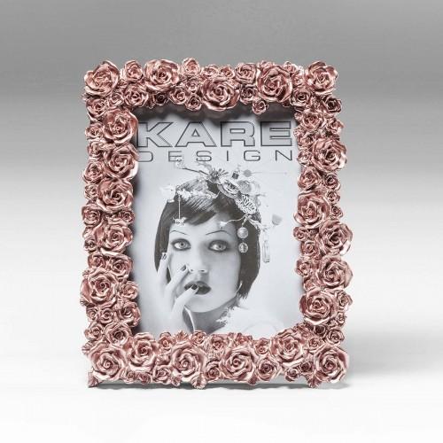 962 KA39286_a Cornice Rose rosa dorato 15x20cm