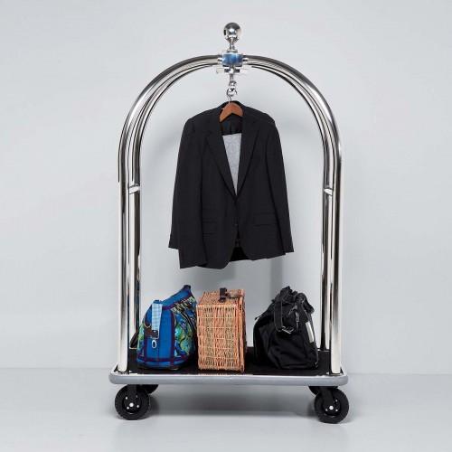 Carrello porta abiti e bagagli Vegas186x105x62nero