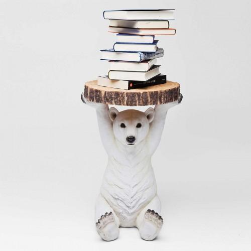 Tavolino rotondo orso polare Ø 37 cm